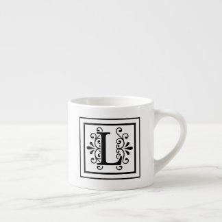 Letter L Monogram Espresso Mug