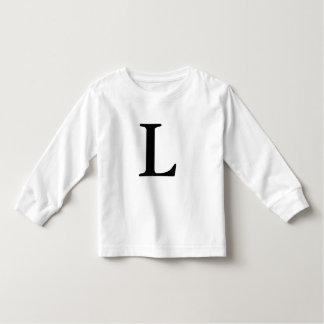 Letter L monogrammed black initial t shirt