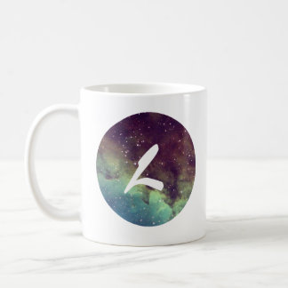 Letter 'L' Name Mug with Space Print Personalize