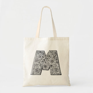Letter M color yourself library bag