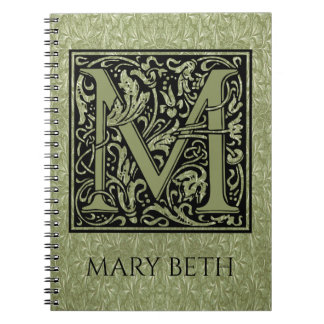 Letter M First Letter Monogram Notebooks