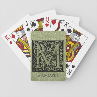 Letter M First Letter Monogram Personalized Playing Cards