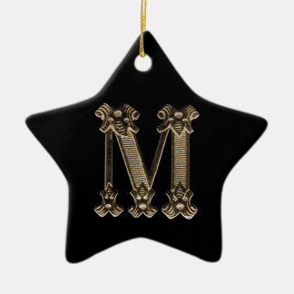 Letter M Initial Star Ornament