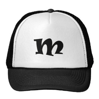 Letter M_large Trucker Hat