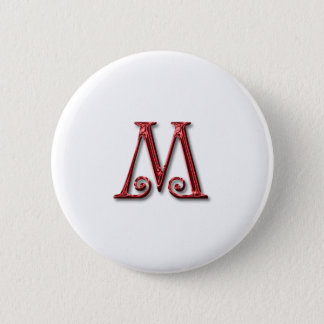 Letter M Monogram 2 Inch Round Button