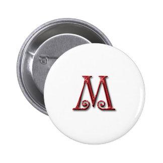 Letter M Monogram Buttons