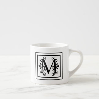 Letter M Monogram Espresso Mug