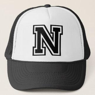 """Letter """"N"""" Monogram Trucker Hat"""