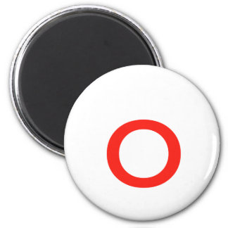Letter o 2 inch round magnet