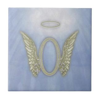 Letter O Angel Monogram Ceramic Tile