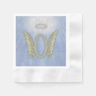 Letter O Angel Monogram Disposable Napkin