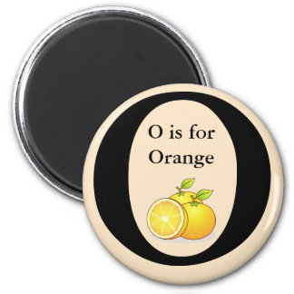 Letter O is for Orange Children's Learning Magnet