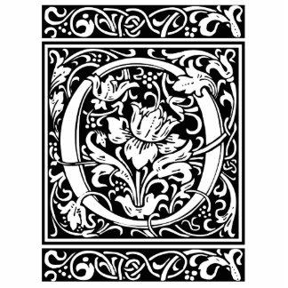 Letter O Medieval Monogram Vintage Initialv Standing Photo Sculpture