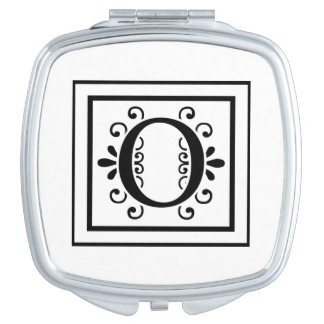 Letter O Monogram Makeup Mirrors
