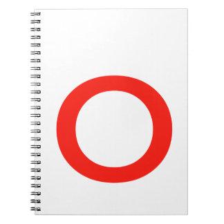 Letter O Spiral Notebooks