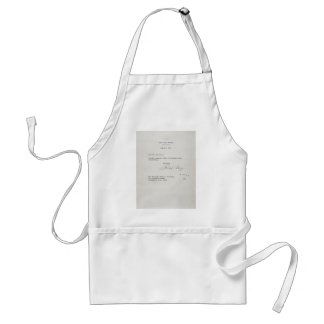 Letter of Resignation of Richard M. Nixon 1974 Standard Apron