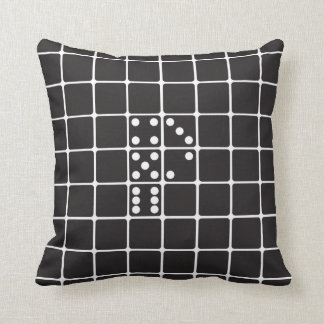 Letter P Dice Throw Pillow
