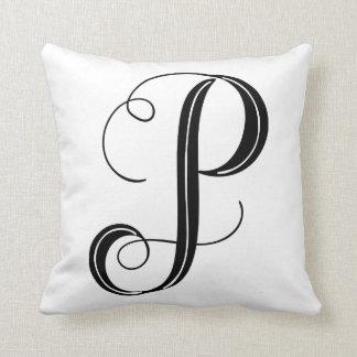 Letter P Inital Pillow