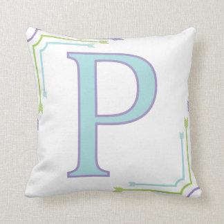 Letter P - Monogram Pillow