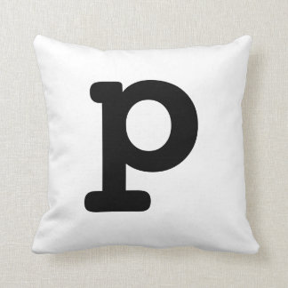Letter P Throw Pillow