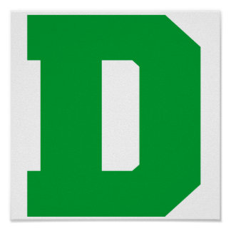 Letter Pride D Green.png Print