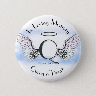 Letter Q | Add Name | Memorial 2 Inch Round Button