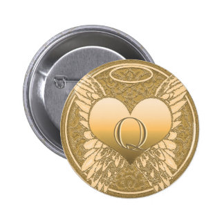 Letter Q | Memorial | Angel Heart 2 Inch Round Button