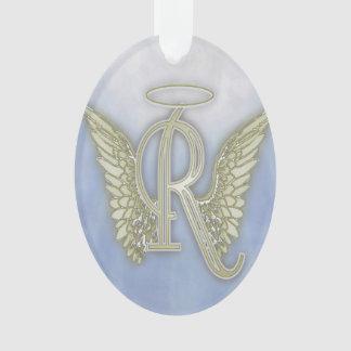 Letter R Angel Monogram Ornament
