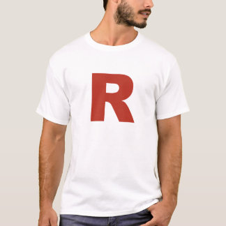 Letter R Cosplay Shirt