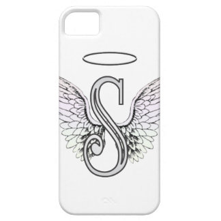 Letter S Initial Monogram with Angel Wings & Halo iPhone 5 Cover