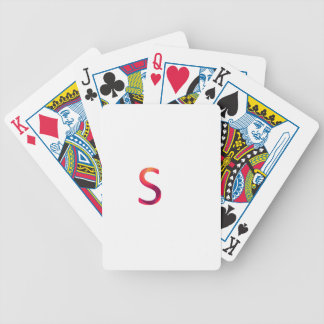 "Letter ""s"" stands for smart bicycle playing cards"