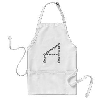 letter standard apron