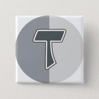 Letter T 2 Inch Square Button