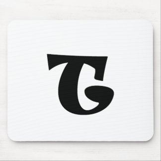 Letter T_large Mouse Pad