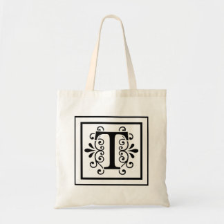 Letter T Monogram Tote Bag