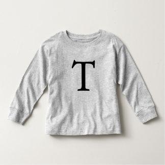 Letter T monogrammed black initial t shirt