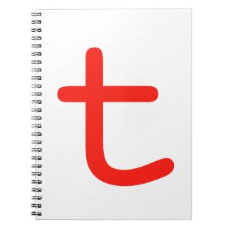 Letter T Spiral Notebooks