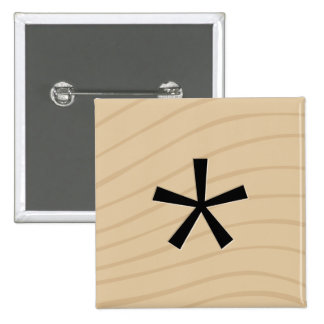 """Letter Tile Game Square Buttons: Asterisk """"*"""" 2 Inch Square Button"""