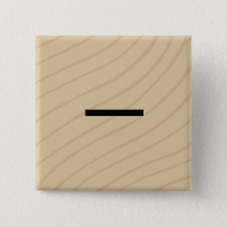 "Letter Tile Game Square Buttons: Minus / Dash ""-"" 2 Inch Square Button"