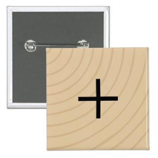 "Letter Tile Game Square Buttons: Plus ""+"" 2 Inch Square Button"