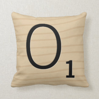 Letter Tile Pillow: Wood O/P (8 of 17) Throw Pillow