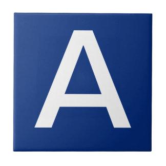 Letter Tiles Blue White