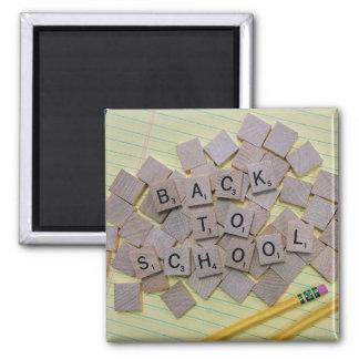 Letter Tiles Square Magnet
