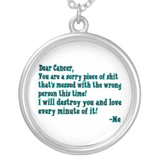 Letter To Cancer Round Pendant Necklace