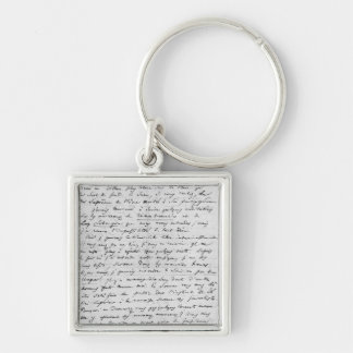 Letter to Richard Wagner  17th February 1860 Silver-Colored Square Keychain