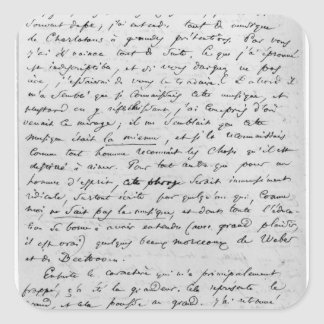 Letter to Richard Wagner  17th February 1860 Square Sticker