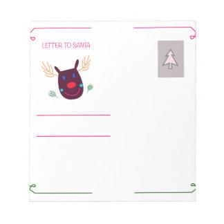 Letter to Santa I Notepad