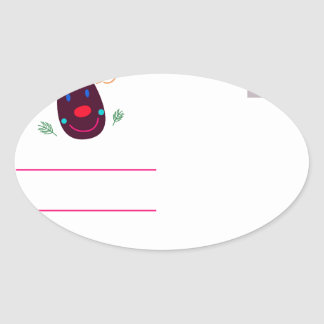 Letter to Santa I Oval Sticker