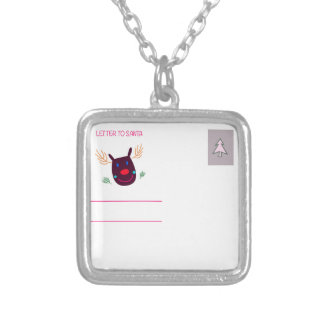 Letter to Santa I Silver Plated Necklace