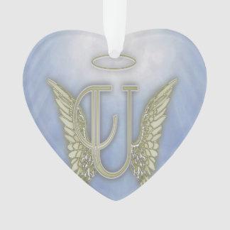 Letter U Angel Monogram